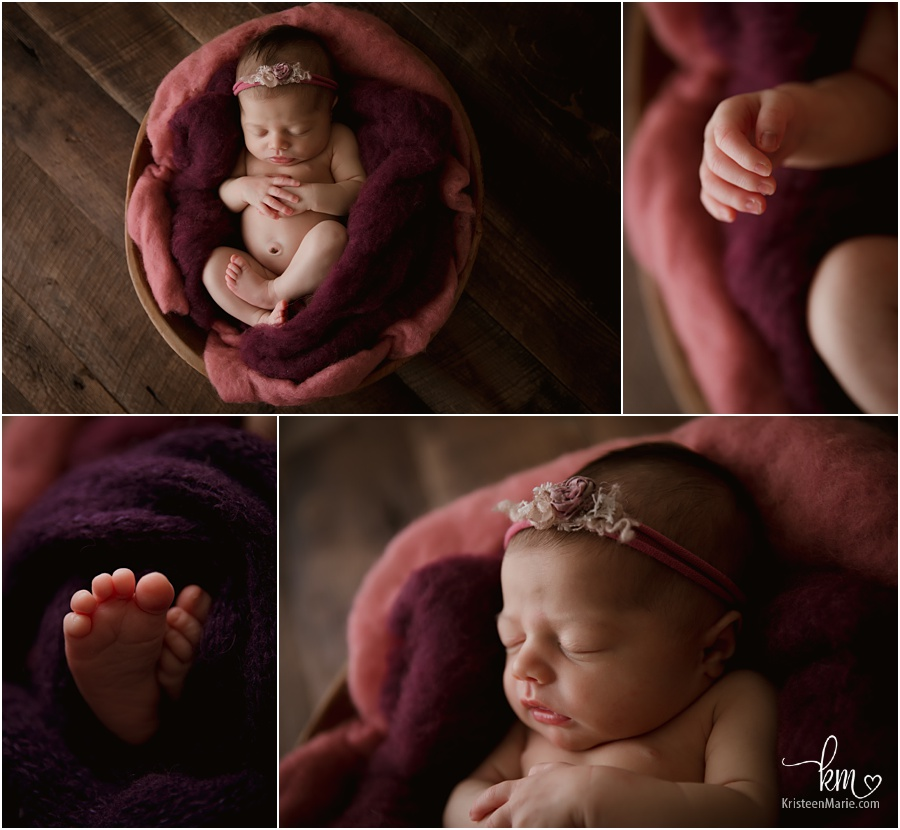 pink and purple newborn photogrpahy image