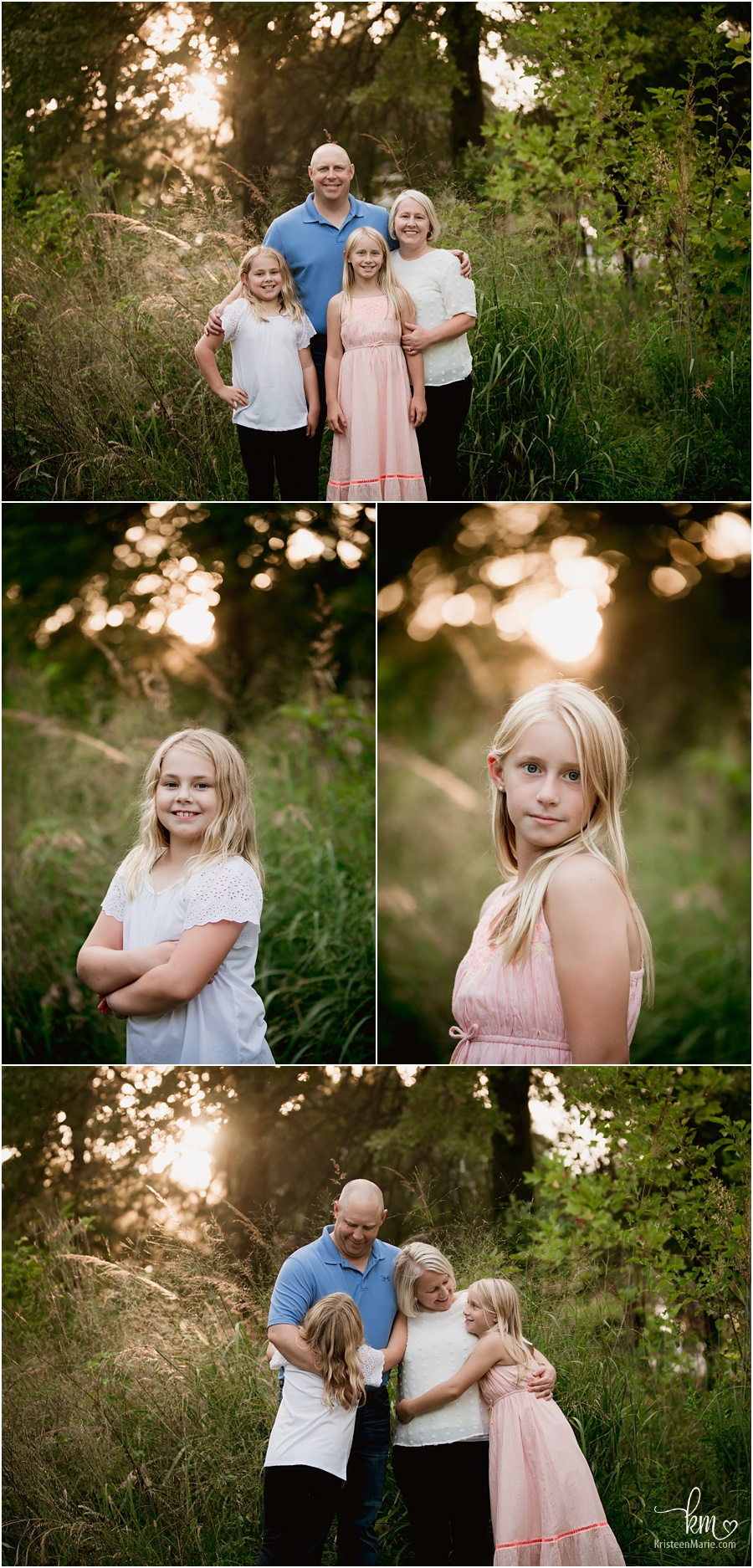 beautifully backlit family photography in Indianapolis