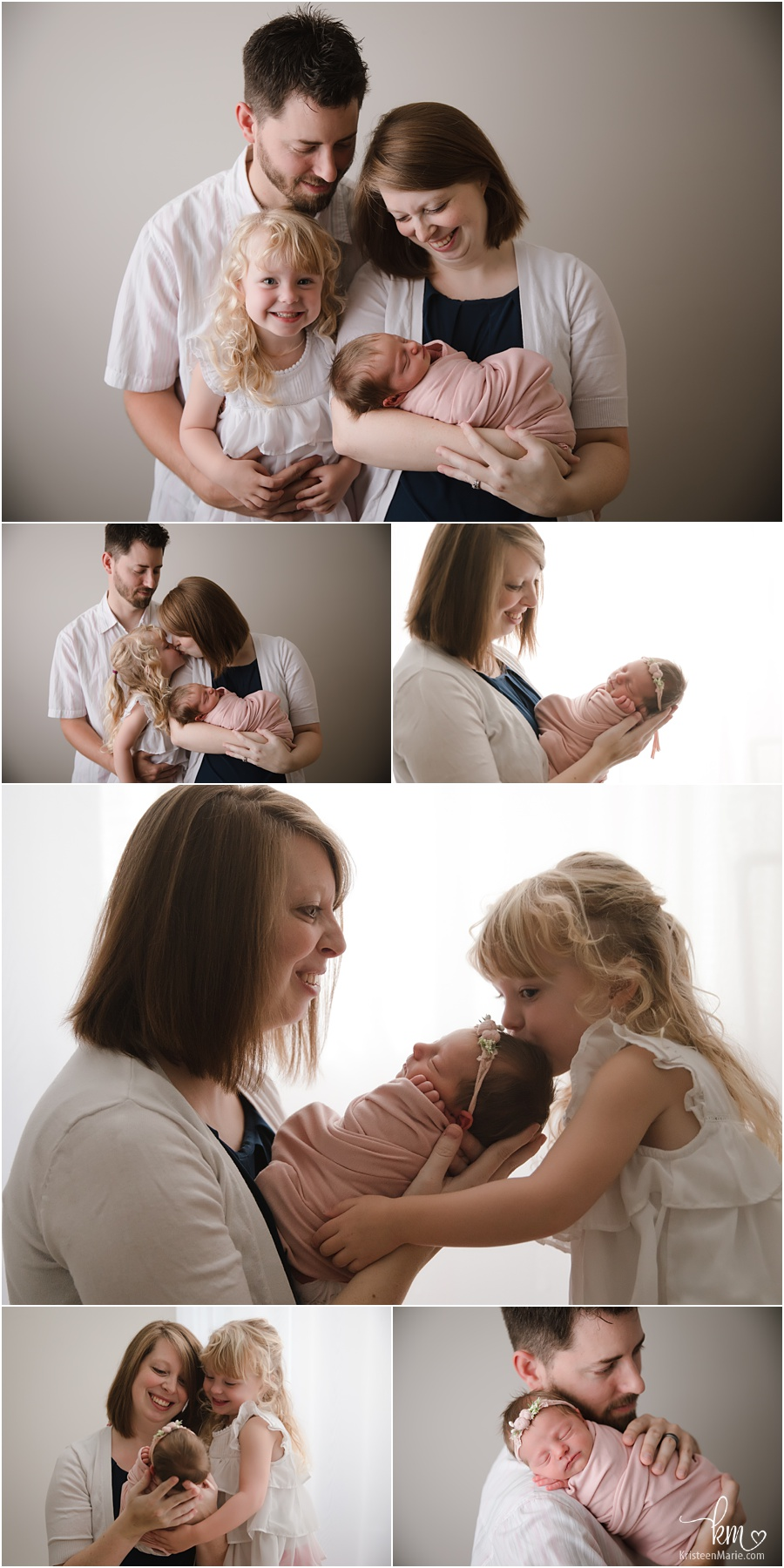 family newborn photography pictures in studio
