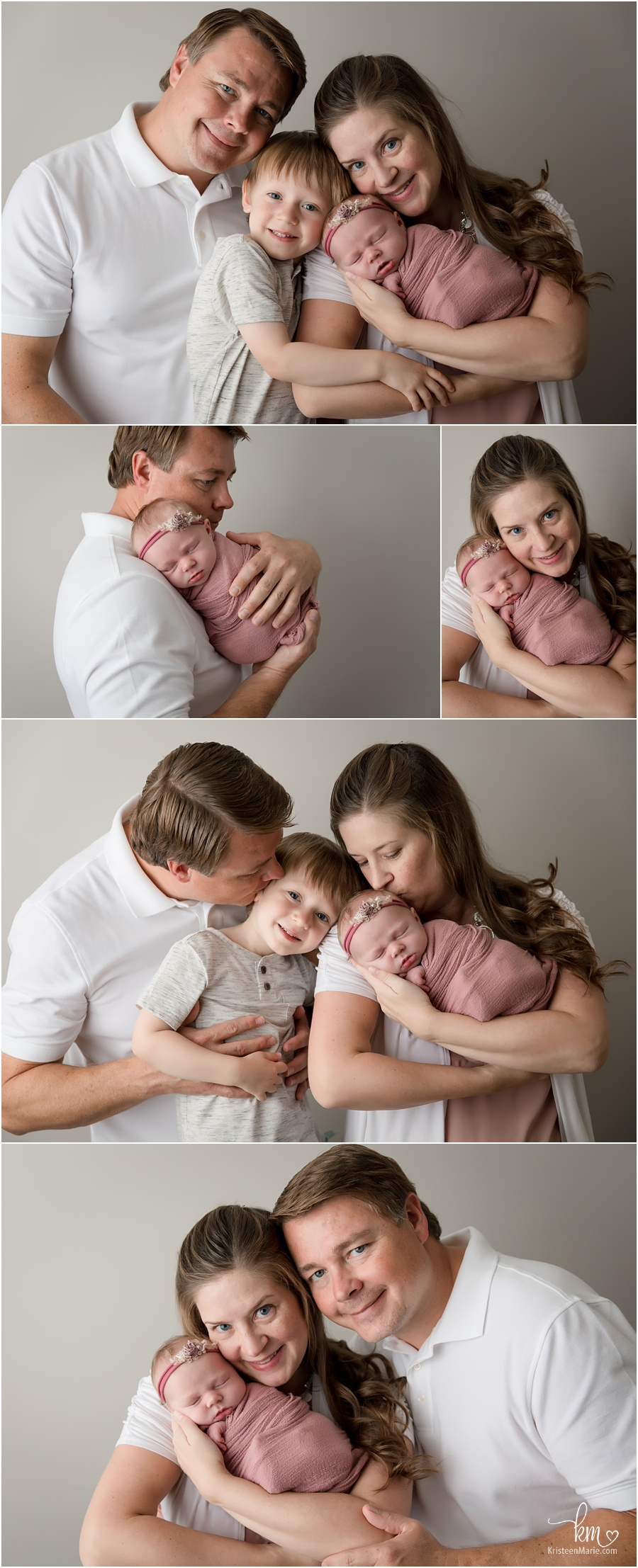 family pictures with newborn baby girl