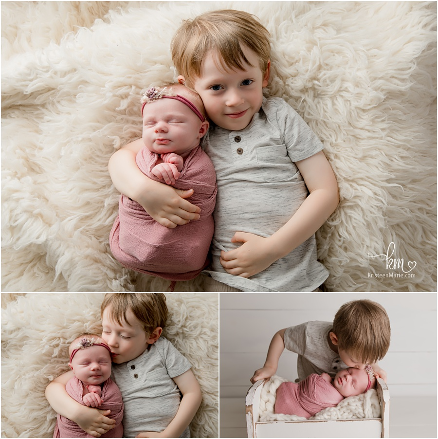 Fishers, IN newborn photography - siblings