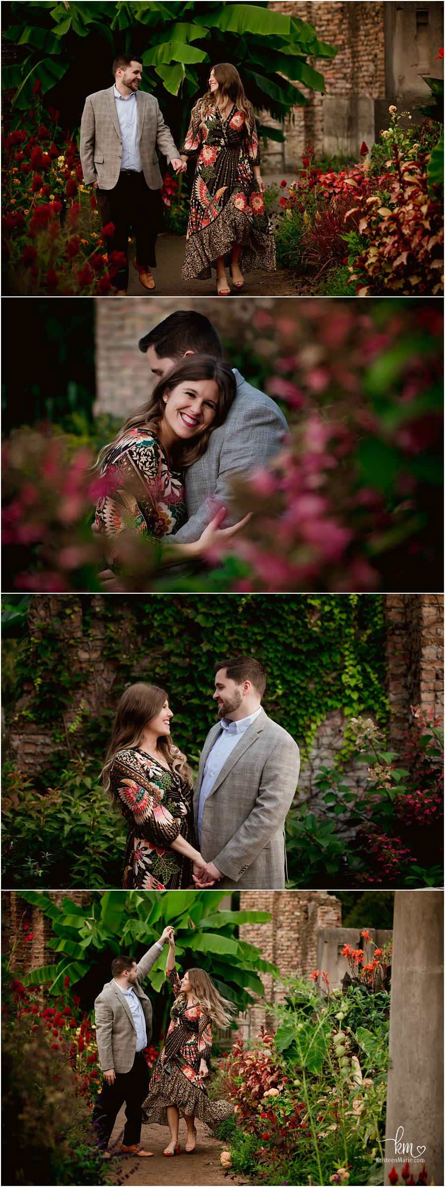 fall at Holliday Park ruins - engagement pictures
