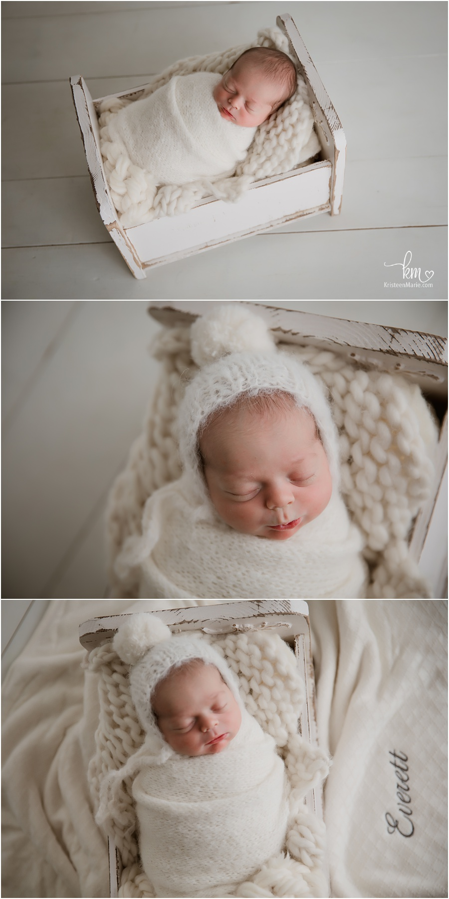 newborn photography white on white