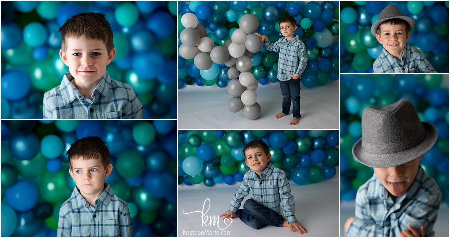 4th birthday photoshoot - balloon backdrop