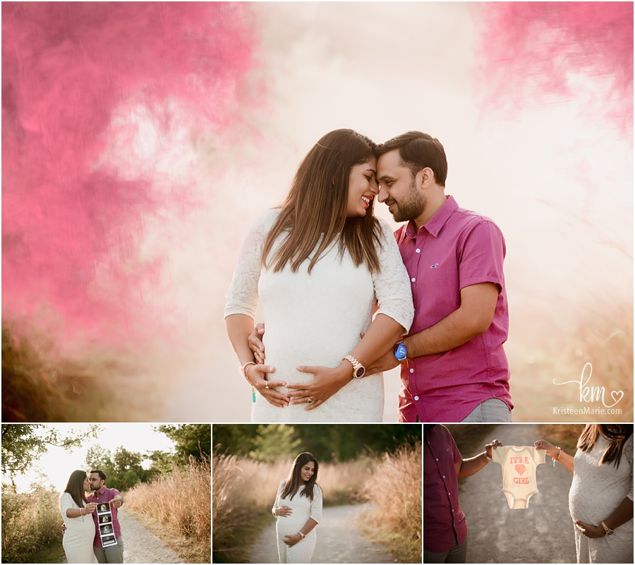 gender reveal photos - its a girl