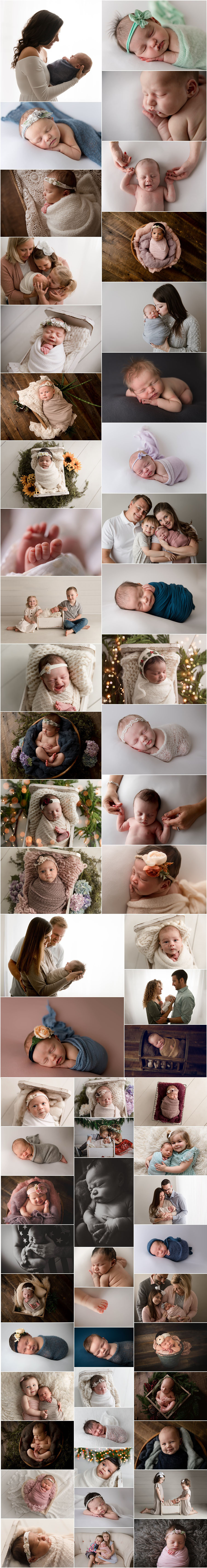 Indianapolis newborn photography - newborns from 2020 in the studio