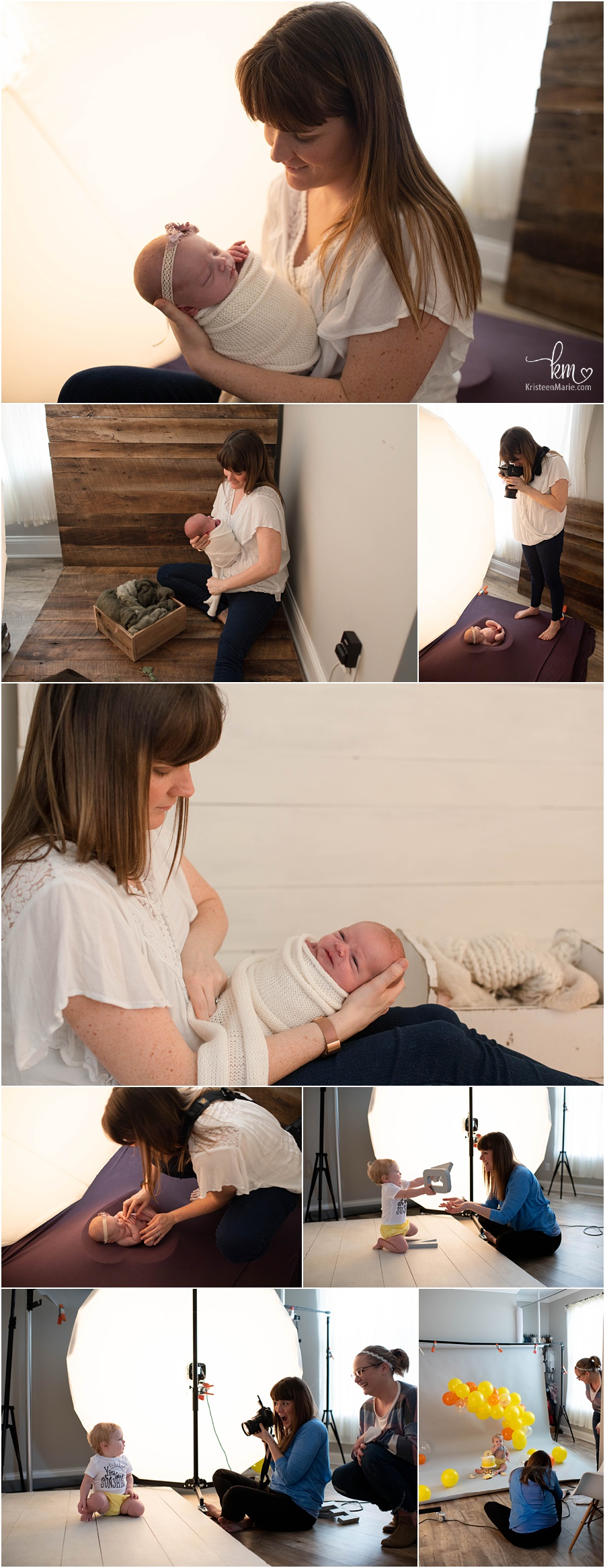 behind the scenes of a newborn photography session - the studio