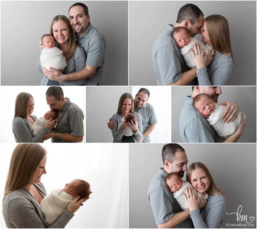 family pictures with newborn baby - Zionsville newborn family photo