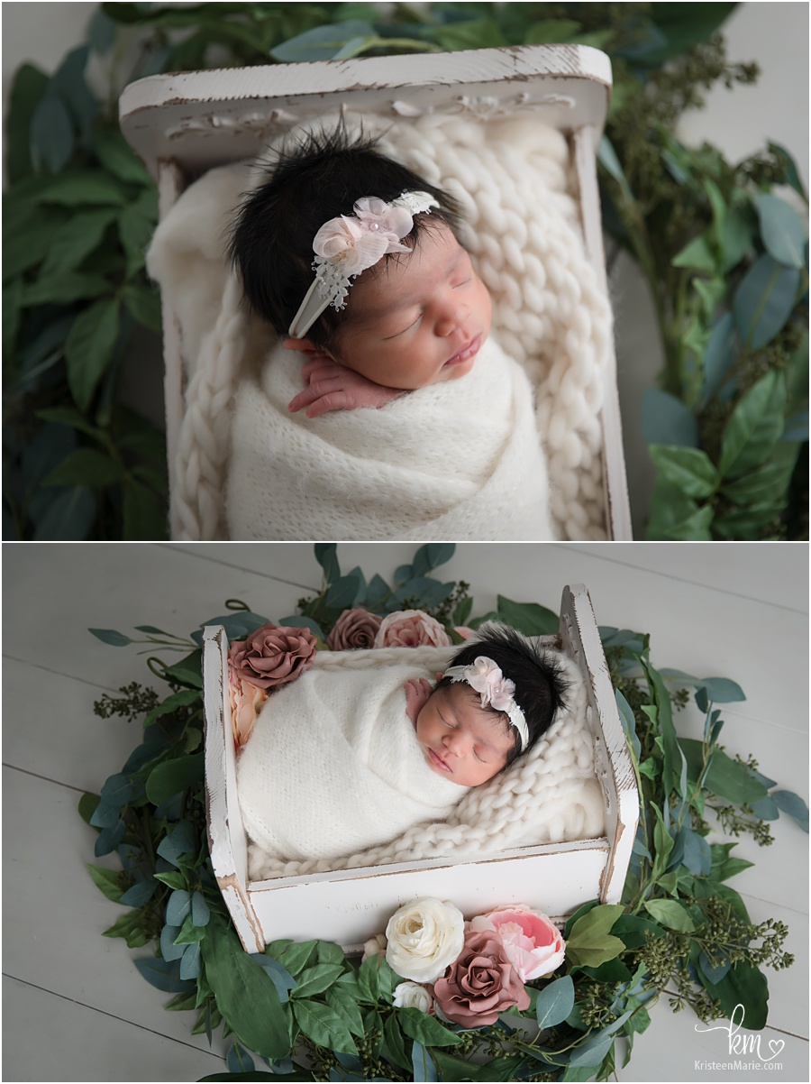 floral newborn pictures - Indianapolis newborn photography