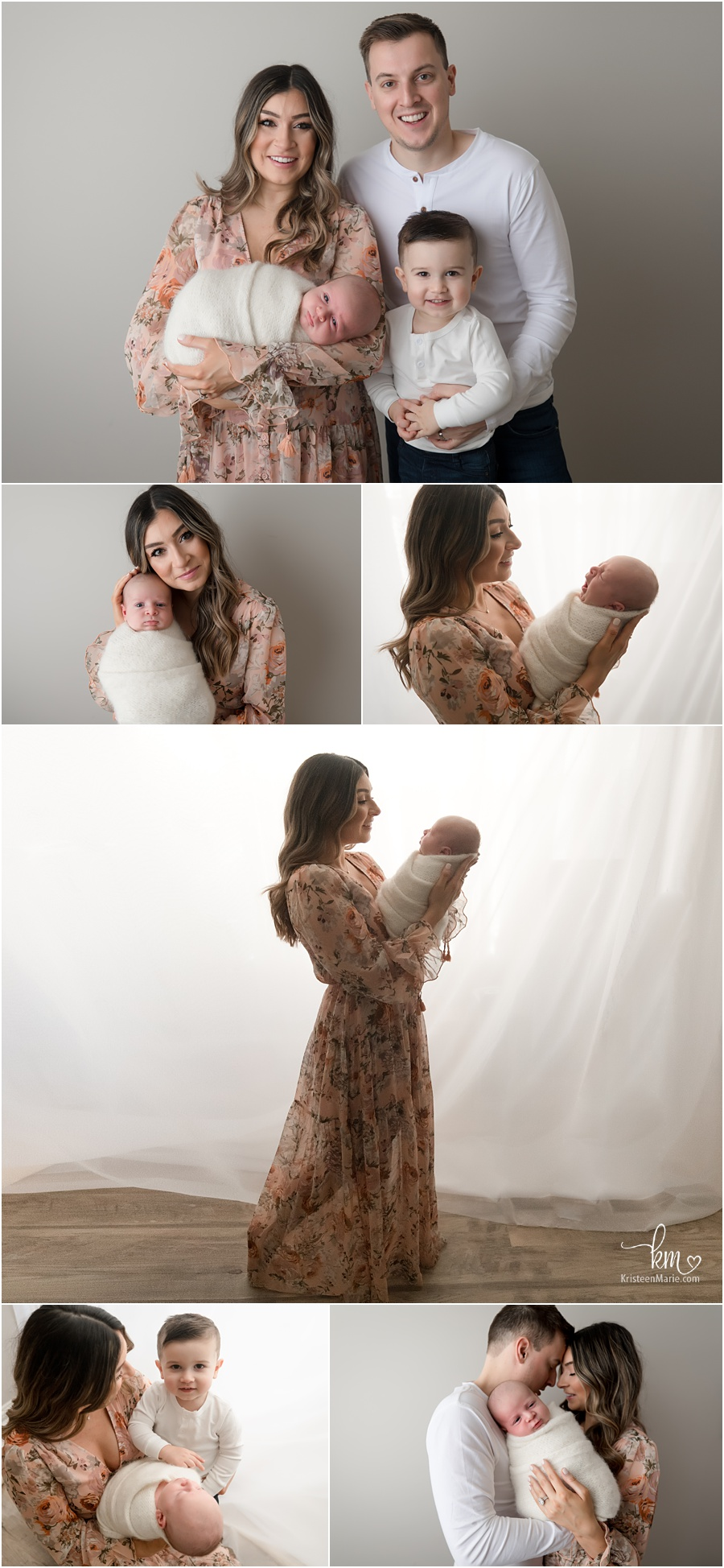 family newborn pictures - what to wear - beautiful dress