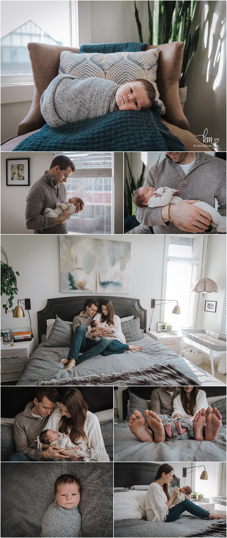 in-home newborn lifestyle photography - Indianapolis photographer