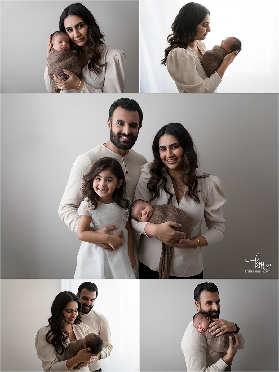 family pictures with newborn baby