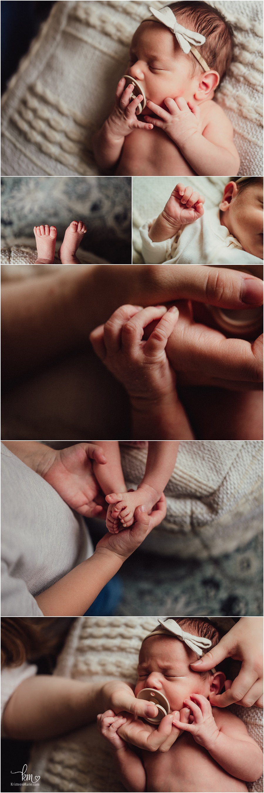 In-home newborn lifestyle photography in Indianapolis - the details