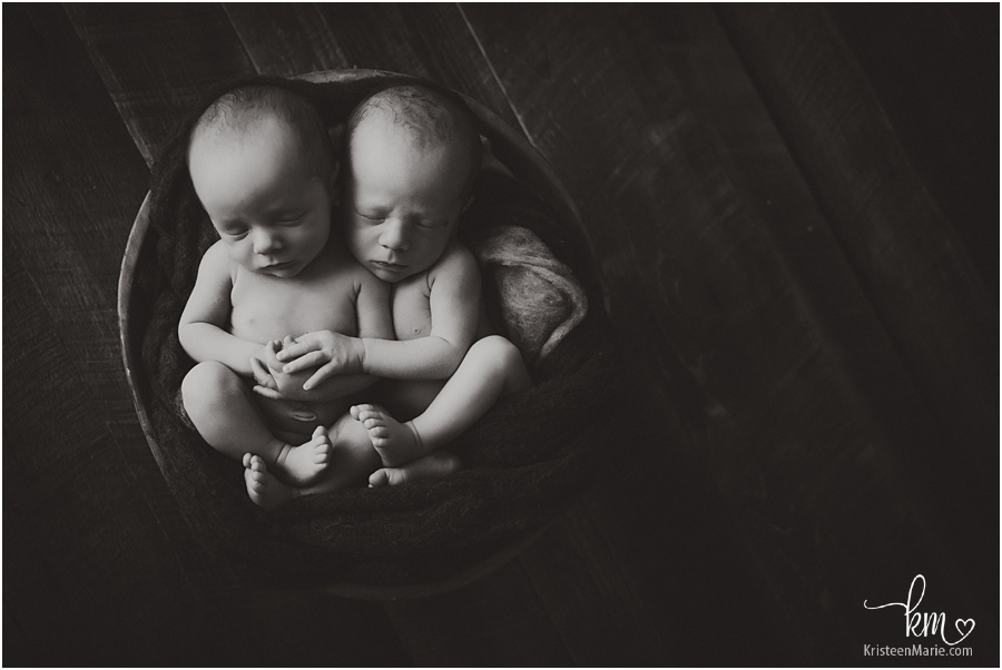 newborn boys in black and white