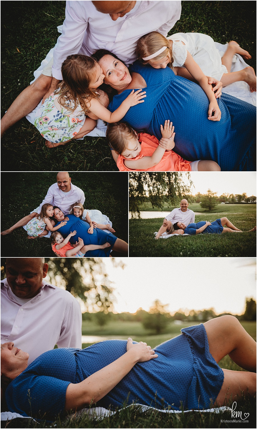 cuddled up - outdoor laying pose maternity photography