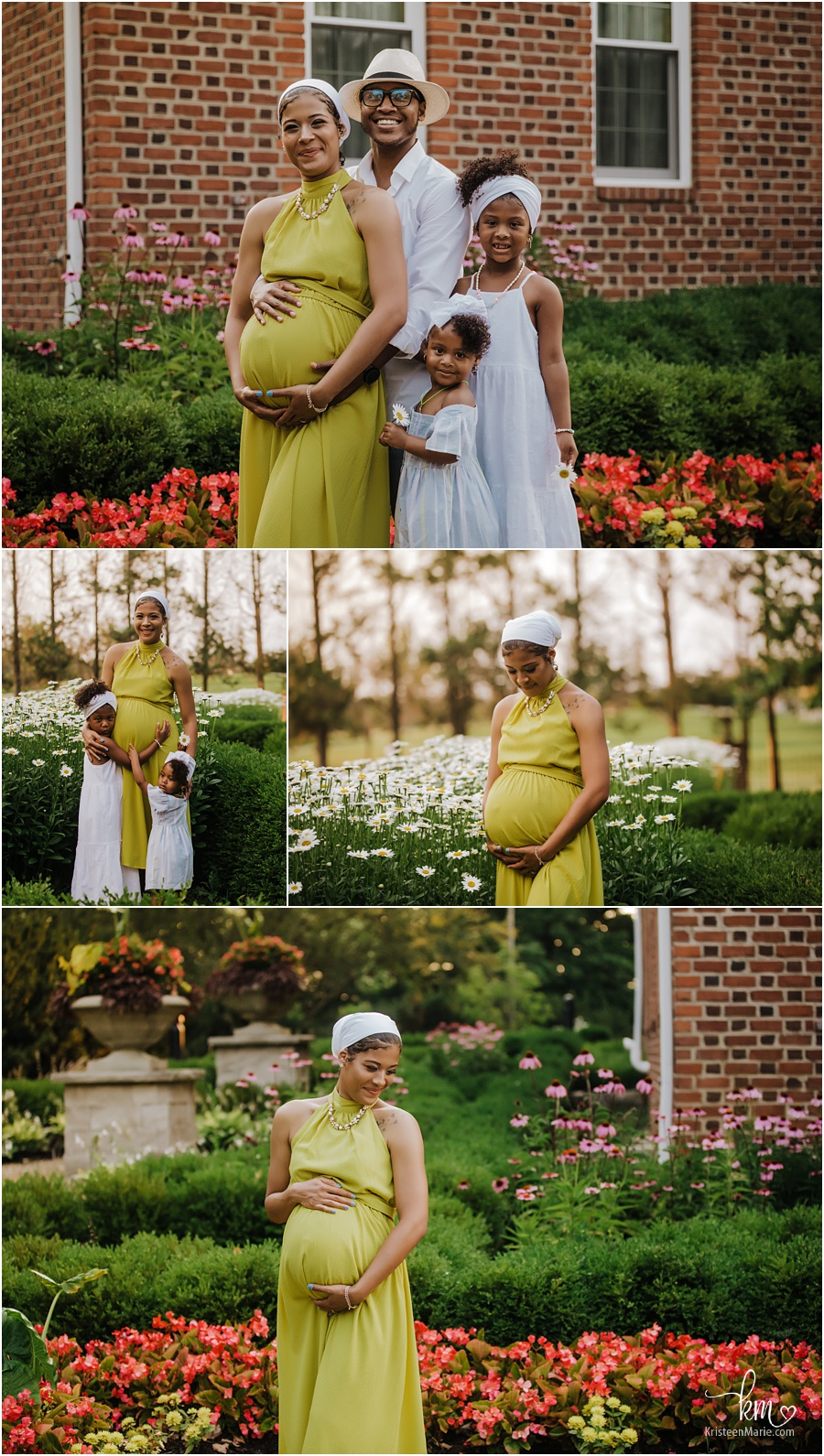 beautiful family for maternity photography session - Indianapolis, IN