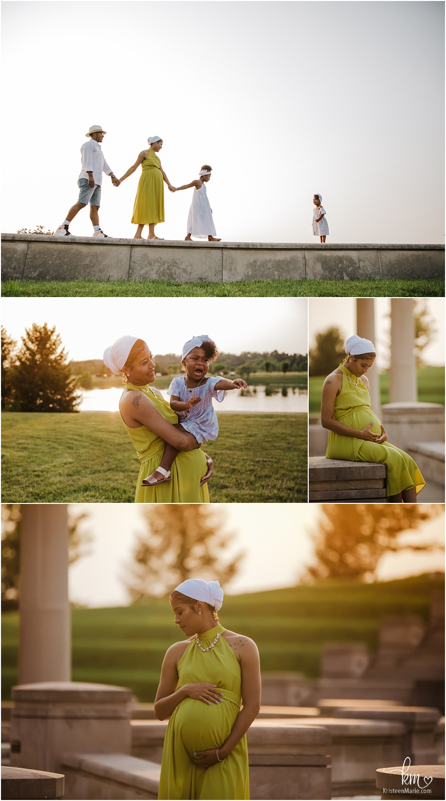 beautiful African America family - maternity photography