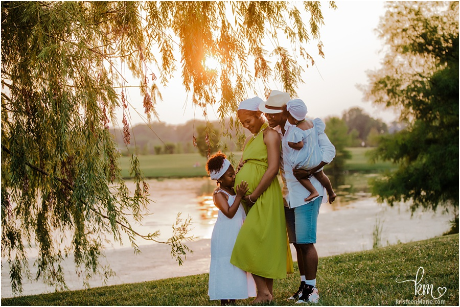 African American family maternity photography