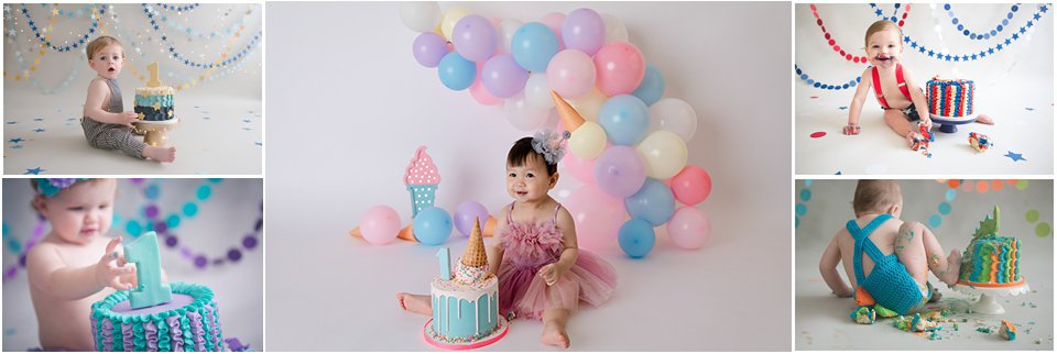 Indianapolis First Birthday Cake Smash Photography Kristeenmarie